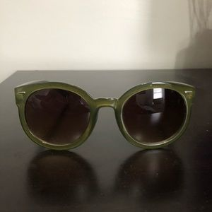 Free People olive green sunglasses